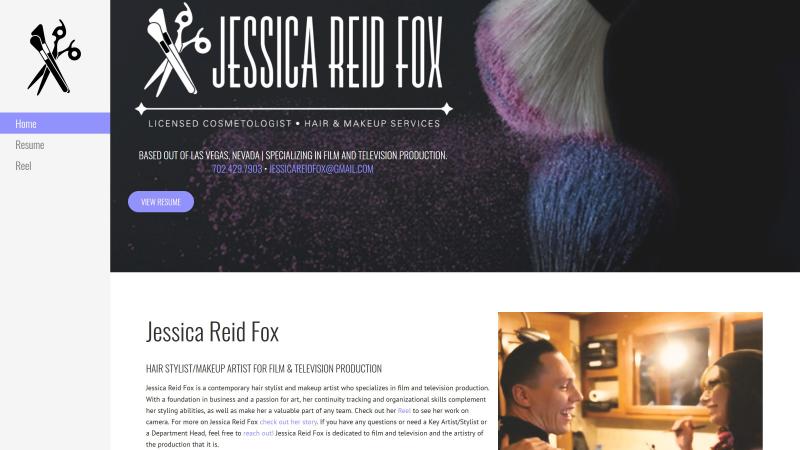Fox IT Concepts - Website design and management   Jessica Reid Fox's Home page capture